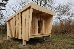 mini shelter fra boern i naturen