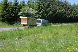 trailertransport af minishelter